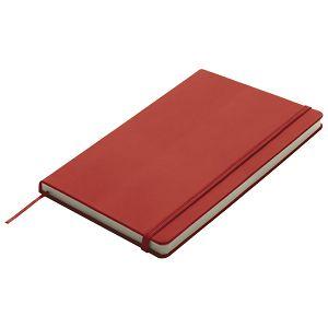 Notes 13x21cm čisti 96L s gumicom crveni