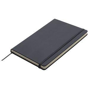 Notes 13x21cm čisti 96L s gumicom crni