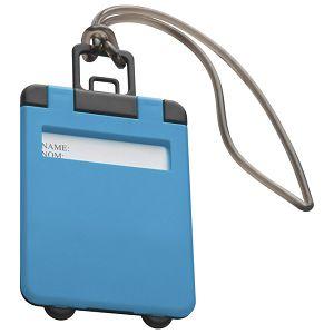 Privjesnica za prtljagu za osobne podatke svijetlo plava