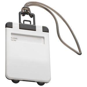 Privjesnica za prtljagu za osobne podatke bijela