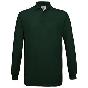 Majica dugi rukavi B&C Safran Polo LSL 180g tamno zelena 2XL!!