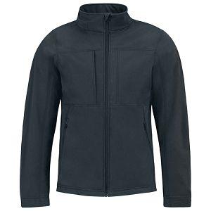 Jakna zip muška B&C Hooded Softshell tamno plava 3XL
