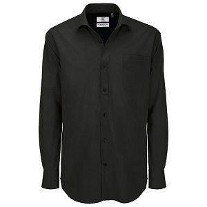 Košulja muška dugi rukavi B&C Heritage 125g crna 2XL