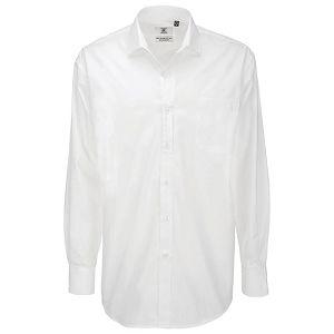Košulja muška dugi rukavi B&C Heritage 120g bijela 3XL