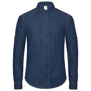 Košulja muška dugi rukavi B&C DNM Vision/Men tamno plava L!!