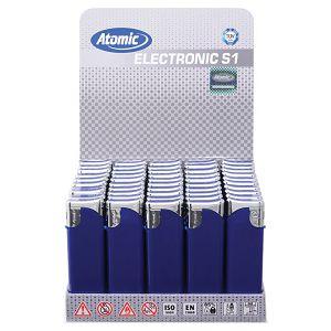 Upaljač elektronski mat Atomic Swing plavo/srebrni