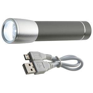 Punjač za mobilne uređaje aluminijski sa svjetlom sivi!!