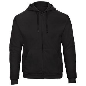 Majica dugi rukavi zip B&C ID.205 270g crna XL