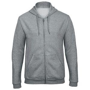 Majica dugi rukavi zip B&C ID.205 270g svijetlo siva XL