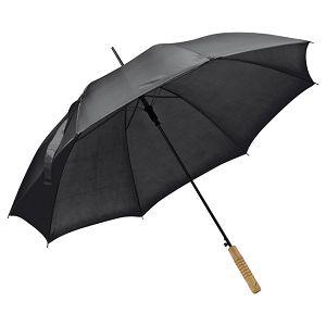 Kišobran automatik s drvenom drškom crni
