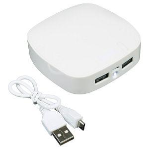 Punjač za mobilne uređaje plastični prijenosni bijeli