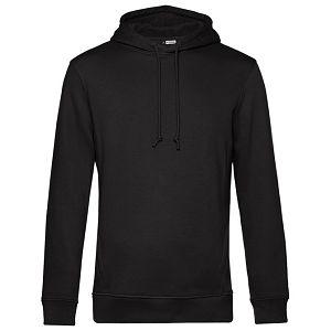 Majica dugi rukavi B&C Hooded organic 280g crna 2XL