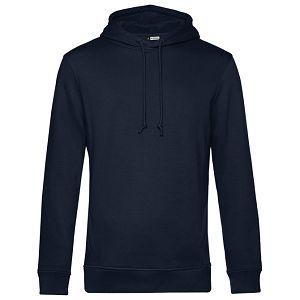 Majica dugi rukavi B&C Hooded organic 280g urban tamno plava S