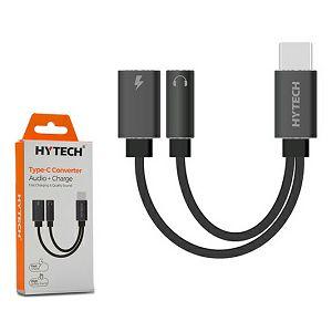 Adapter TIP C (M) na 3,5mm audio (Ž) + Tip-C (Ž), Hytech HY-X040