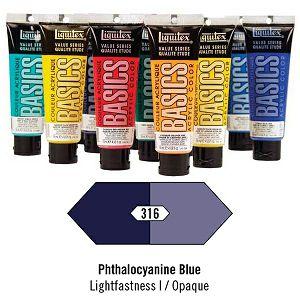 Akril Liquitex Basics 118ml Phthalocyanine Blue (316)