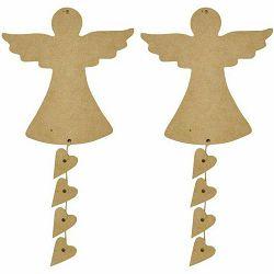 Anđeo ukrasni 2 komada