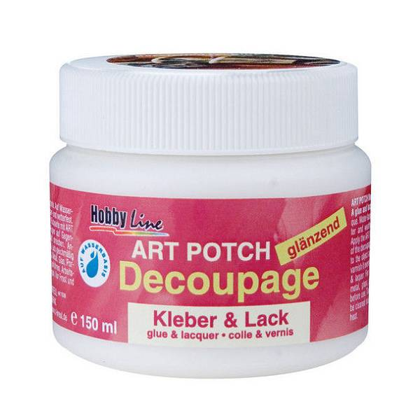 Art Potch lak ljepilo za decoupage - sjajno, 150 ml