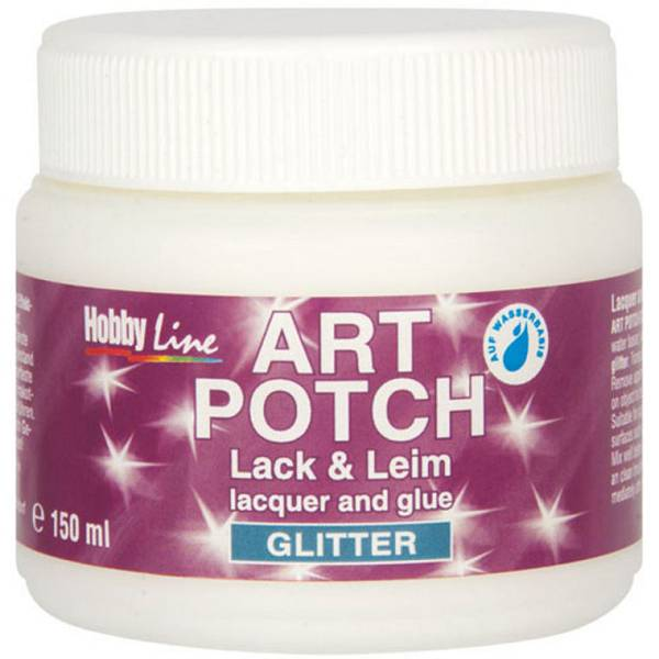 Art Potch - lak ljepilo za salvete, glitter srebrni 150ml