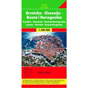 AUTO KARTA HRVATSKE, Slovenije, Bosne i Hercegovine