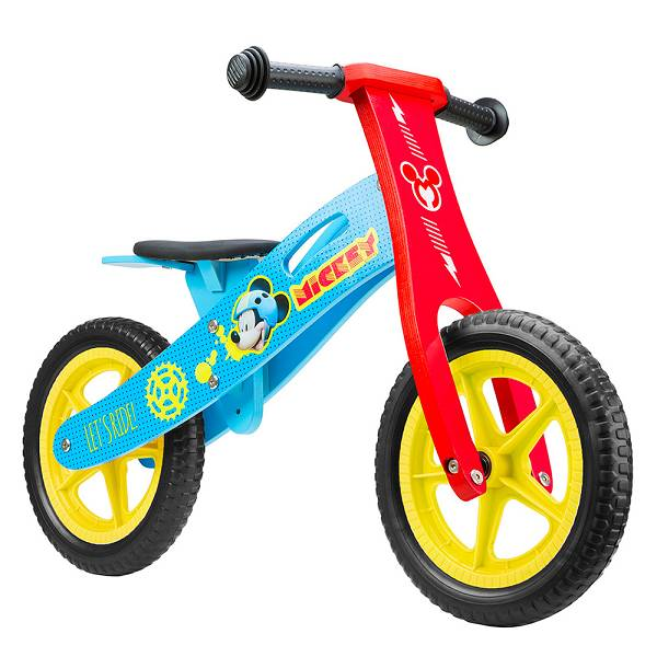 Bicikl školski drveni guralica Mickey