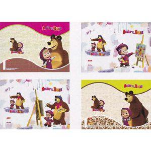 Bilježnica A4 52L crte Masha and The Bear 19801 Target sortirano