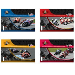 Bilježnica A4 52L crte Moto GP Evolution Target sortirano