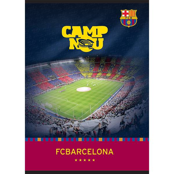 Bilježnica A6/D Barcelona, 40 listova, 80gr P10/120