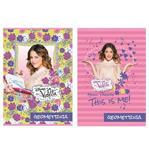 Bilježnica Geometrijska GIRLS GOLD LINE Violetta