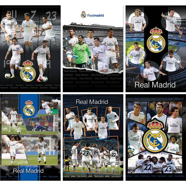 Bilježnica spiralna PP A6/D 80 listova Real Madrid