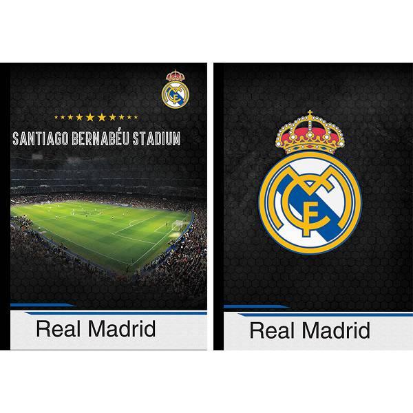 Bilježnica tvrde korice A4/K kocke Real Madrid 80l P6/36