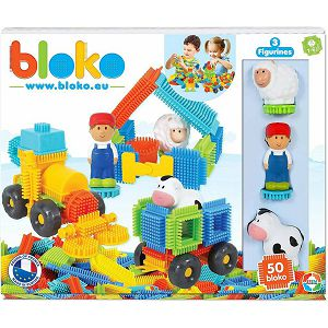 BLOKO KOCKE SET 50kom+3 figure 3D farma BL503593 12+mj 035925