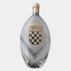 BOCA staklena pjeskarena 0.5L Grb Hrvatske