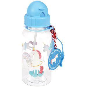 Boca za piće plastična sa slamkom 500ml Magical Unicorn 27282