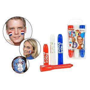 Boja za lice 3/1 crvena, bijela i plava boja ToiToys
