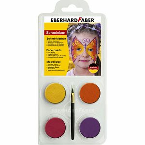 BOJA ZA LICE Leptir set + kist Eberhard Faber 4/1 790116