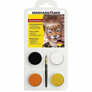 BOJA ZA LICE Tigar set + kist Eberhard Faber 4/1 790130