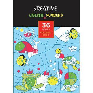 Bojanka Creative Color by Numbers dječja, 36str, 21x30cm, 75081