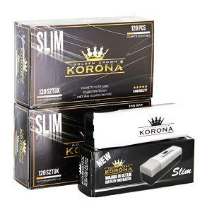 CIGARETNI PAPIR s filterom Slim (tanji) KORONA 2x120/1 + punilica Slim