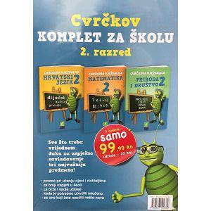 Cvrčkov komplet za školu 2. razred hrvatski, matematika, priroda i društvo