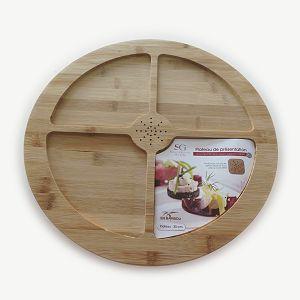 Daska za serviranje rotirajuća, drvena 35cm Secret De Gourmet 392836