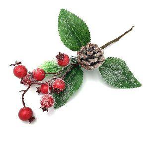 DEKORATIVNI CVIJET crvene bobice, pikalica božikovina, FG16-344 20297