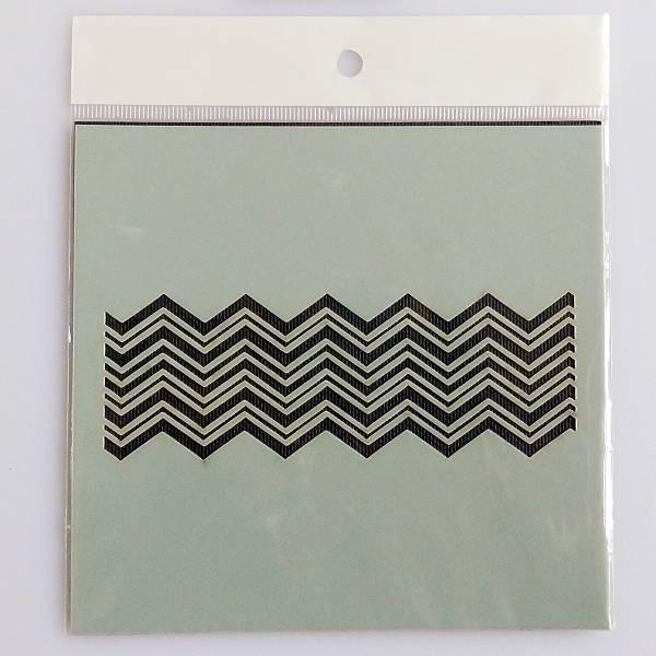 Dezen geometrijski šablona 11 x 11,5cm