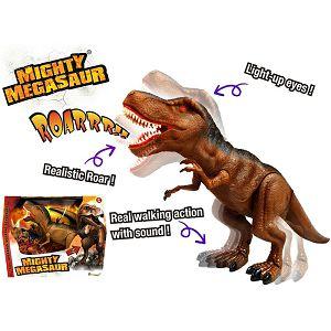 DINOSAUR MEGASAUR interaktivni, na baterije,hoda Dragon Toys