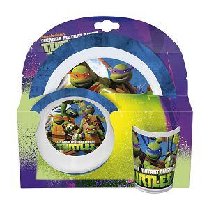 DORUČAK SET zdjelica+šalica+tanjur Ninja Turtles