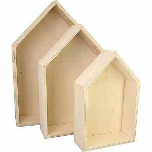 Drvena kutija kućica 20.3 cm