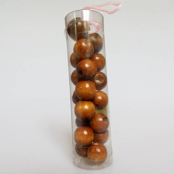 Drvena perla smeđa 1,5cm