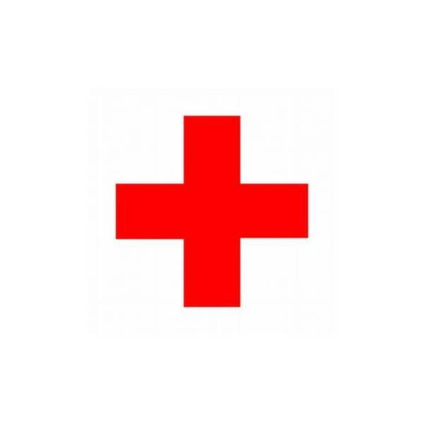 Etiketa naljepnica crveni križ 6x6cm