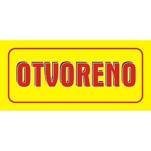 Etiketa OTVORENO/ZATVORENO