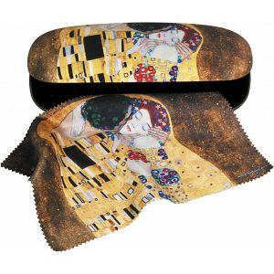 Etui za naočale Gustav Klimt Kiss sa tkaninom za brisanje 125211