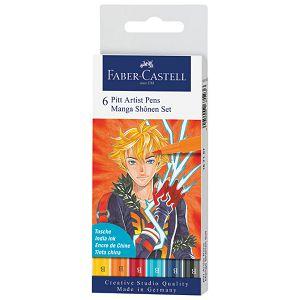 Flomaster Pitt artist  6boja Manga Shonen Faber Castell 167157 blister
